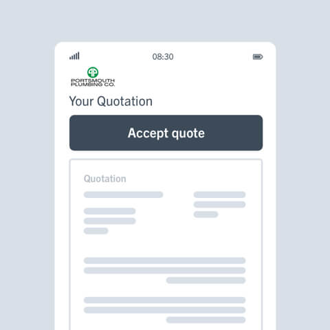Get trade quotes accepted